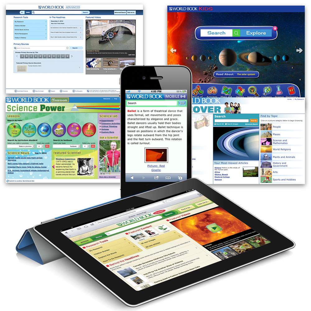 World Book Online 1 Year Subscription World Book Online includes five great online encyclopedia sites for kids at multiple research levels. Give your kids the best facts they can get!