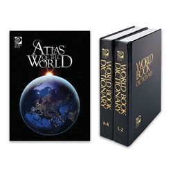 Atlas of the World & Dictionary Combo