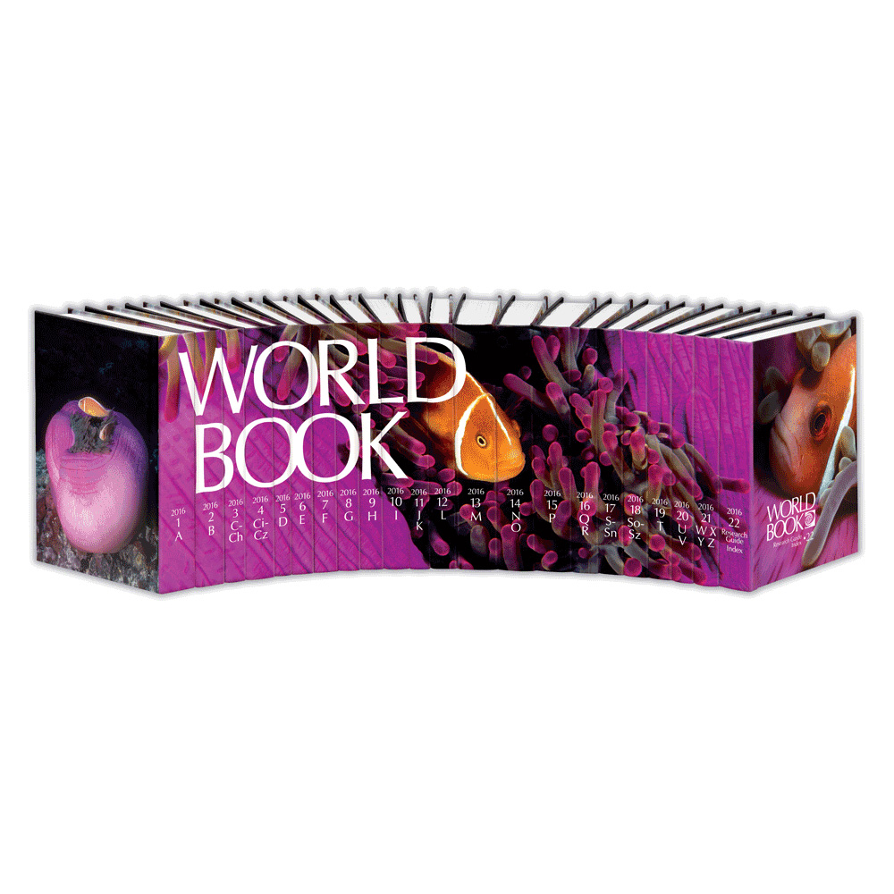 World Book Encyclopedia 2016 encyclopedia, reference book, elementary education